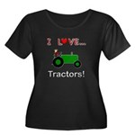 I Love Green Tractors Women's Plus Size Scoop Neck