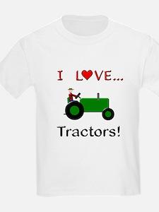 I Love Green Tractors T-Shirt