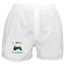 I Love Green Tractors Boxer Shorts