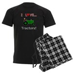 I Love Green Tractors Men's Dark Pajamas