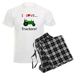 I Love Green Tractors Men's Light Pajamas