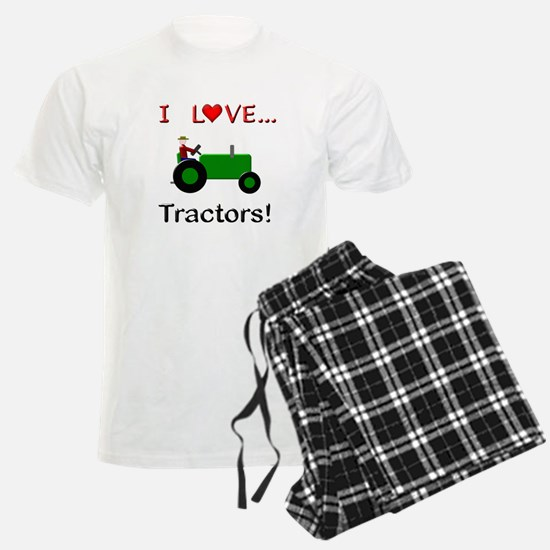 I Love Green Tractors Pajamas