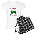 I Love Green Tractors Women's Light Pajamas