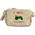 I Love Green Tractors Messenger Bag