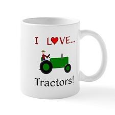 I Love Green Tractors Small Mug