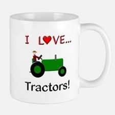 I Love Green Tractors Small Small Mug