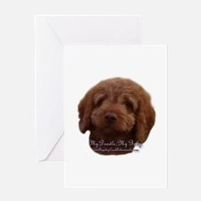 Funny Labradoodle Greeting Card