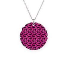 Pink Polka Dachshunds Necklace
