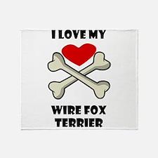 I Love My Wire Fox Terrier Throw Blanket