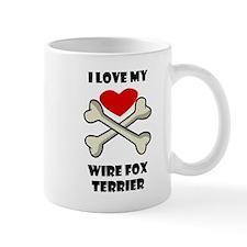 I Love My Wire Fox Terrier Mugs