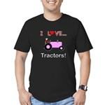 I Love Pink Tractors Men's Fitted T-Shirt (dark)