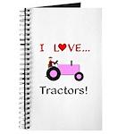 I Love Pink Tractors Journal