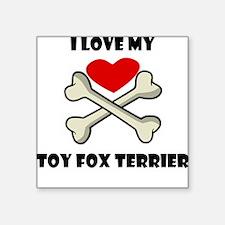 I Love My Toy Fox Terrier Sticker
