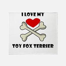 I Love My Toy Fox Terrier Throw Blanket