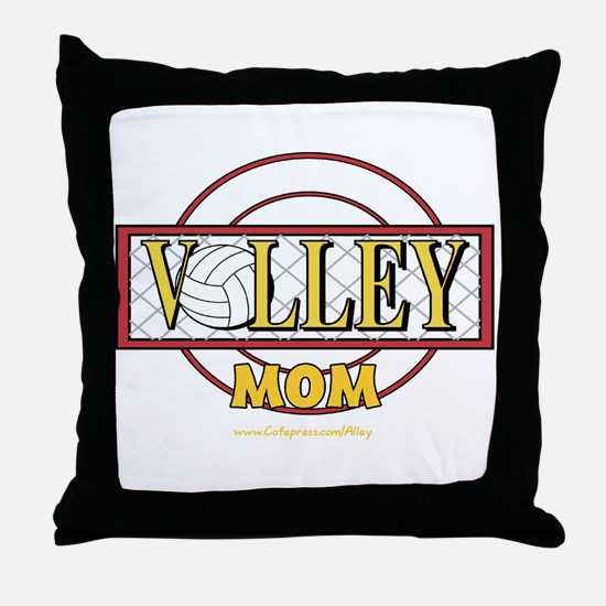 Volley Mom Throw Pillow