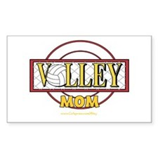 Volley Mom Rectangle Decal