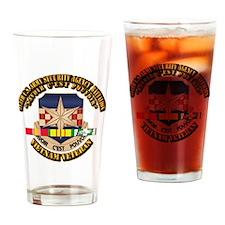 313th USA SAB w SVC Ribbon Drinking Glass