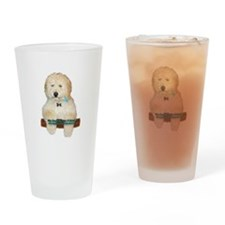 Unique Labradoodle Drinking Glass