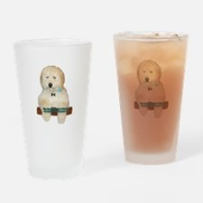 Cute Labradoodle Drinking Glass