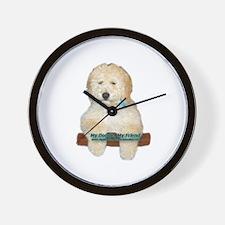 Cute Labradoodle Wall Clock