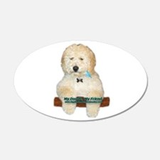Cute Labradoodle Wall Decal