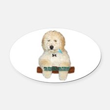 Cute Labradoodle Oval Car Magnet