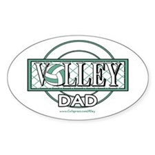 Volley Dad Oval Decal