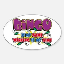 Bingo Winning Oval Decal