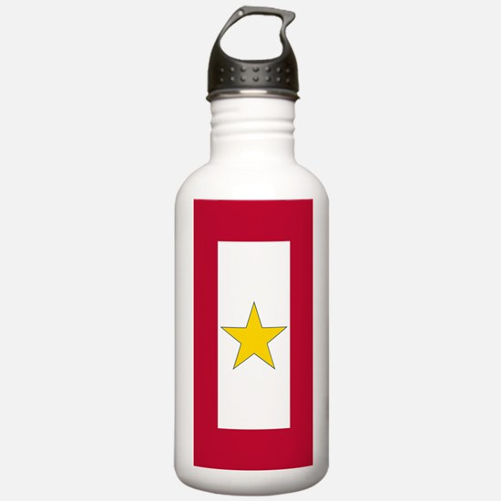 Gold Star Flag Water Bottle
