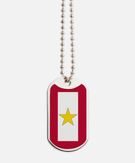 Gold Star Flag Dog Tags