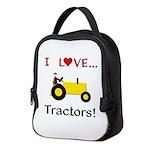 I Love Yellow Tractors Neoprene Lunch Bag
