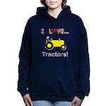 I Love Yellow Tractors Hooded Sweatshirt