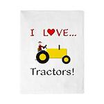 I Love Yellow Tractors Twin Duvet