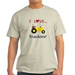 I Love Yellow Tractors Light T-Shirt