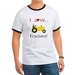 I Love Yellow Tractors Ringer T