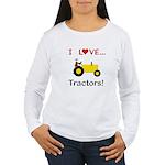 I Love Yellow Tractors Women's Long Sleeve T-Shirt