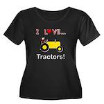 I Love Yellow Tractors Women's Plus Size Scoop Nec