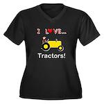I Love Yellow Tractors Women's Plus Size V-Neck Da
