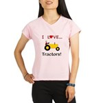 I Love Yellow Tractors Performance Dry T-Shirt