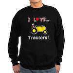 I Love Yellow Tractors Sweatshirt (dark)