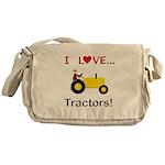 I Love Yellow Tractors Messenger Bag