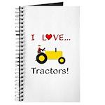 I Love Yellow Tractors Journal