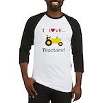 I Love Yellow Tractors Baseball Jersey