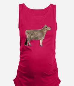 Brown Swiss Dairy Cow Maternity Tank Top