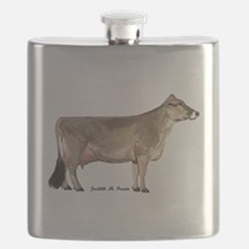 Brown Swiss Dairy Cow Flask