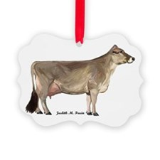 Brown Swiss Dairy Cow Ornament