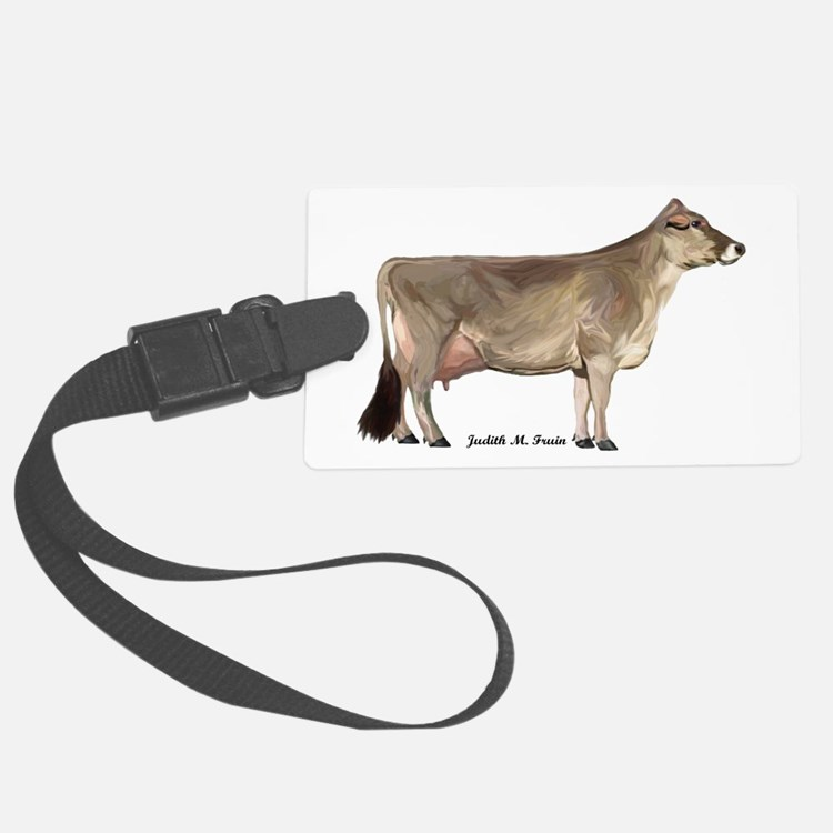 Brown Swiss Dairy Cow Luggage Tag