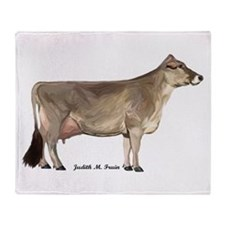 Brown Swiss Dairy Cow Throw Blanket