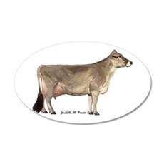 Brown Swiss Dairy Cow Wall Decal