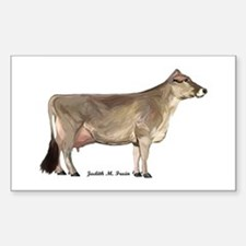 Brown Swiss Dairy Cow Sticker (Rectangle)